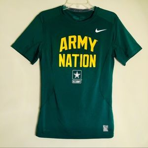 Nike Pro Combat | Army Nation Green Active Shirt